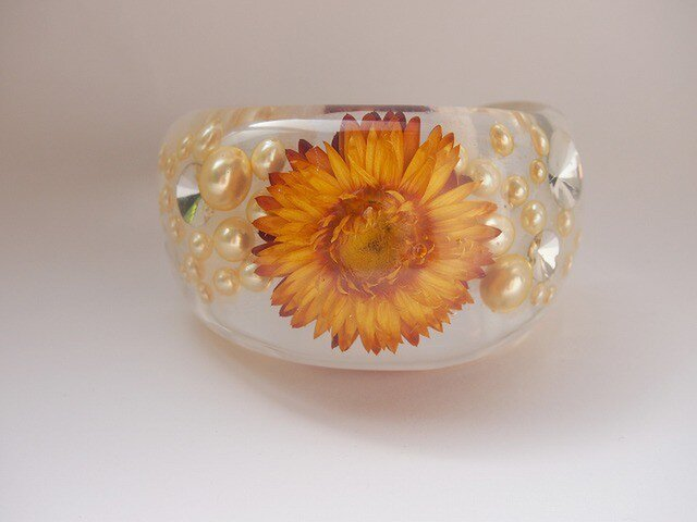 Flower bangle [L]orangeの画像1枚目