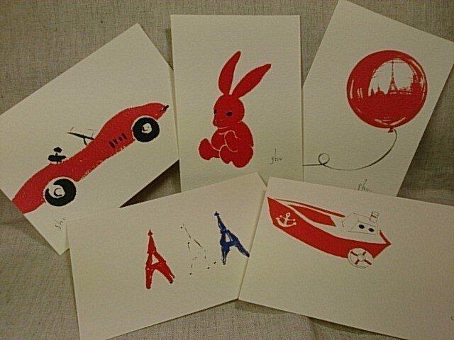 shume ポストカード「B」セット(5枚組)の画像1枚目