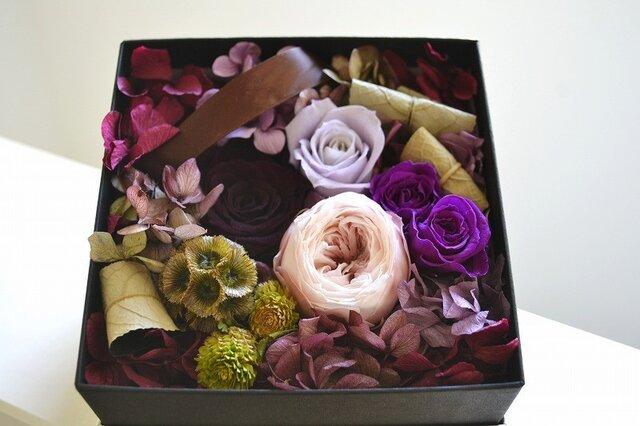 Flower Box (パープル*ブラック)の画像1枚目