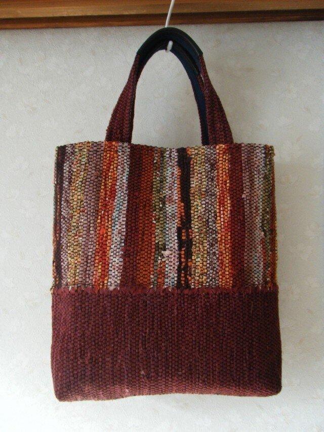 裂き織りバッグの画像1枚目