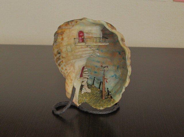 [ivy様ご依頼品]貝がら ミニチュア 灯台の画像1枚目