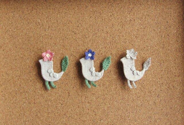 【 プティオワゾー - ブロッシュ 】 小鳥のブローチの画像1枚目