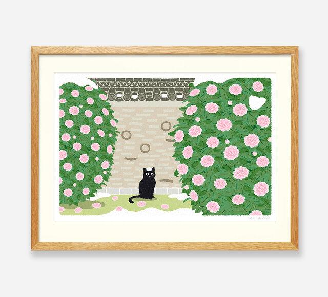 イラストフレーム(03.雪のいたずら)の画像1枚目