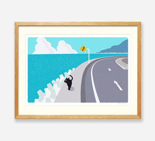 イラストフレーム(08.海からの風)の画像1枚目