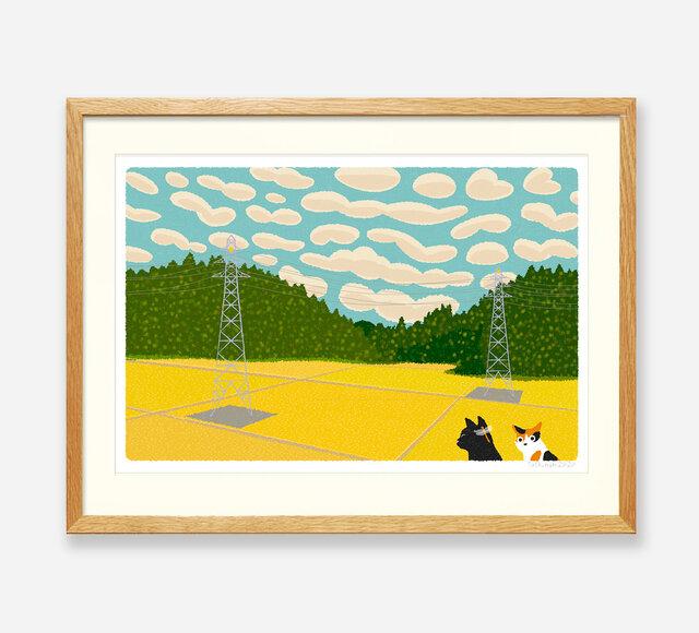 イラストフレーム(09.うろこ雲)の画像1枚目
