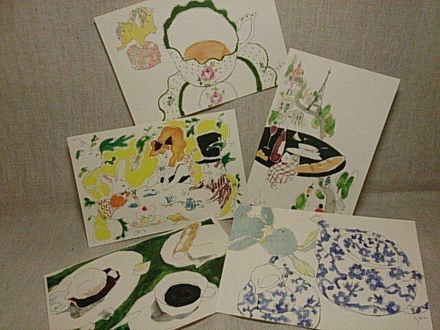 shume ポストカード「E」セット(5枚組)の画像1枚目