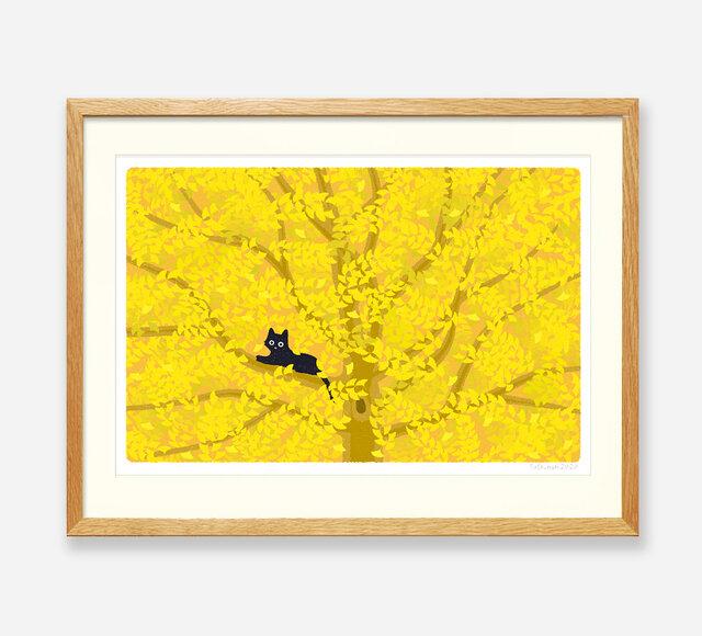 イラストフレーム(11.木の葉がくれ)の画像1枚目