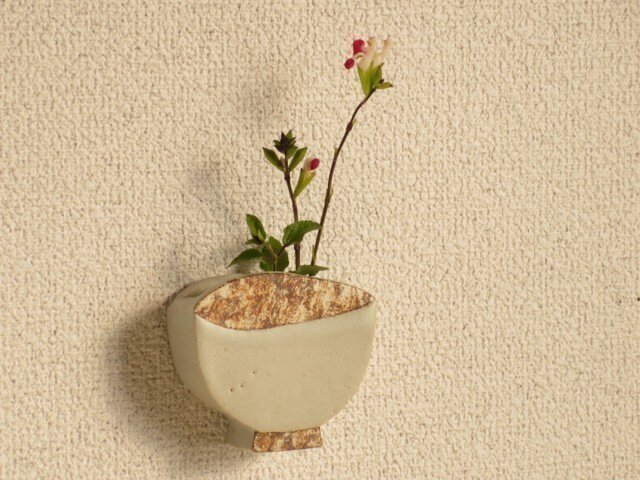 うつわの壁飾り(飯碗・白・ミニ)の画像1枚目