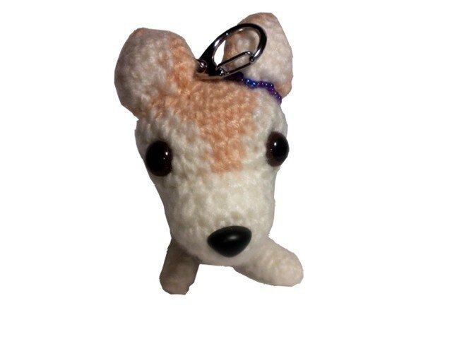 愛犬に似せてキーホルダー★結婚祝いに♡編みぐるみ人形M004の画像1枚目