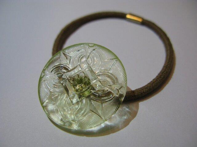 ヴィンテージガラスのヘアゴムの画像1枚目