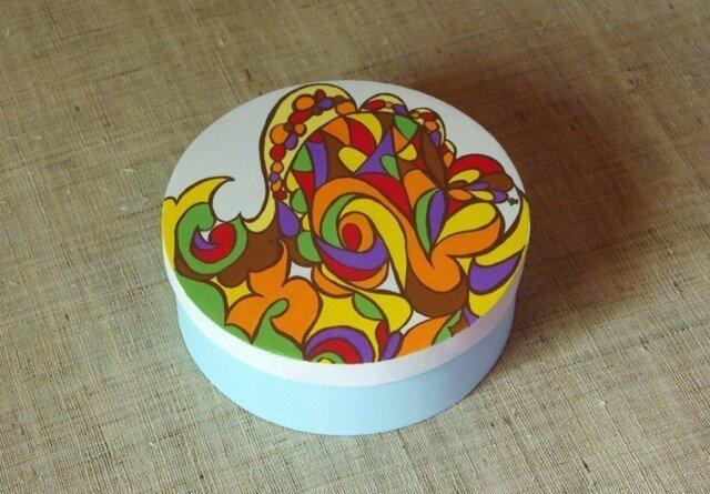木製ペイントBOX(水色)の画像1枚目