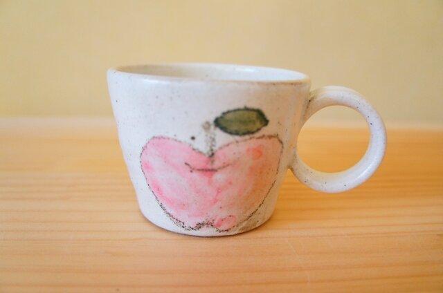 粉引のリンゴカップの画像1枚目