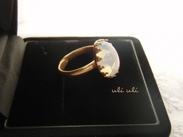 * 透明感*  ホワイトオパールの指輪の画像1枚目
