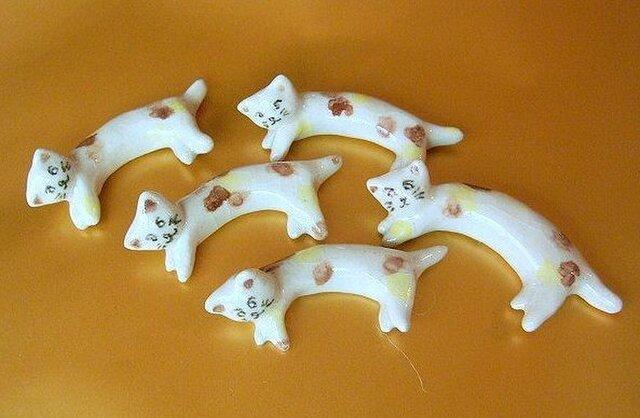 ◆ 親子ねこ5匹の箸置きの画像1枚目
