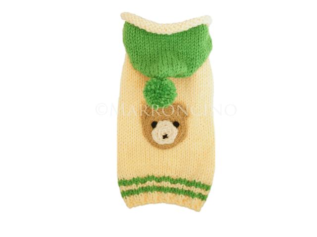 【犬のセーター】くまちゃんフェイスセーター〔#13-407〕の画像1枚目