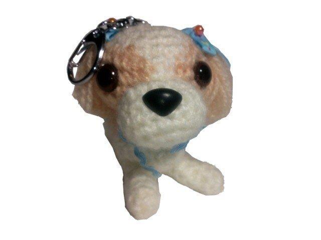 ペットをキーホルダーに♪M002そっくり犬の人形★写真でオーダーの画像1枚目