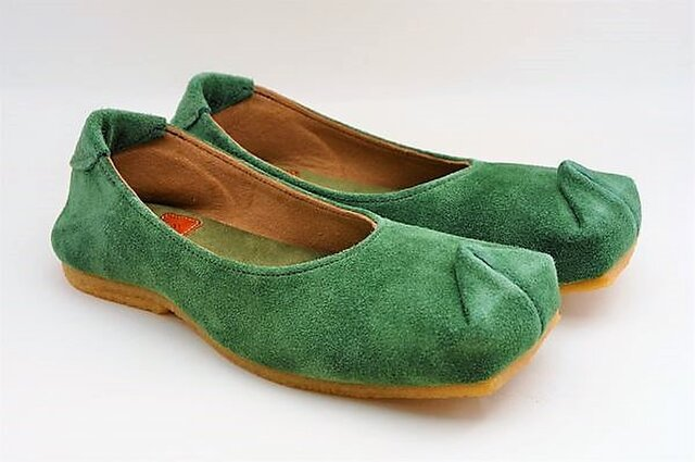 Tokuyama Shoes『tote』green suede leatherの画像1枚目