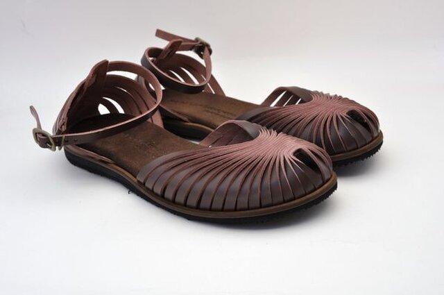 Tokuyama Shoes『ballet sandals』dark-brown leatherの画像1枚目