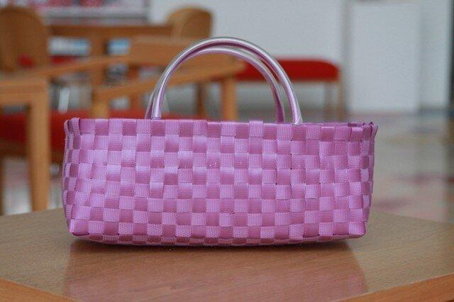 【プライスダウン】プラスチックかご〈ベーシック 紫〉の画像1枚目