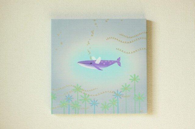手染め 絹紬パネル 「 ゆったり飛行 」 の画像1枚目