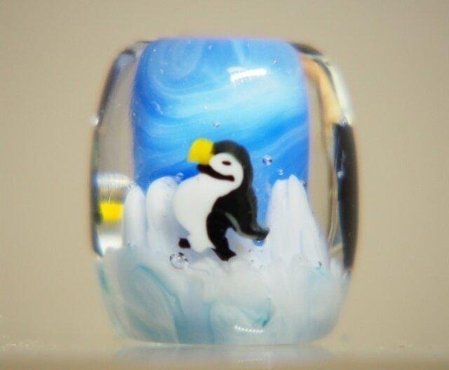 とんぼ玉 南極ペンギンの画像1枚目