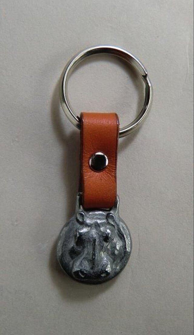河馬のキーホルダー(丸)の画像1枚目