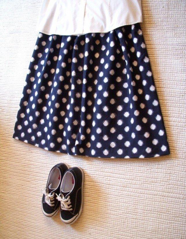 セール!みずたまの久留米絣のスカートの画像1枚目