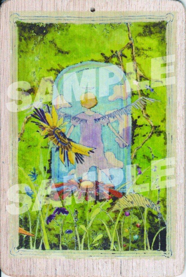 木のポストカード『たびだち』の画像1枚目