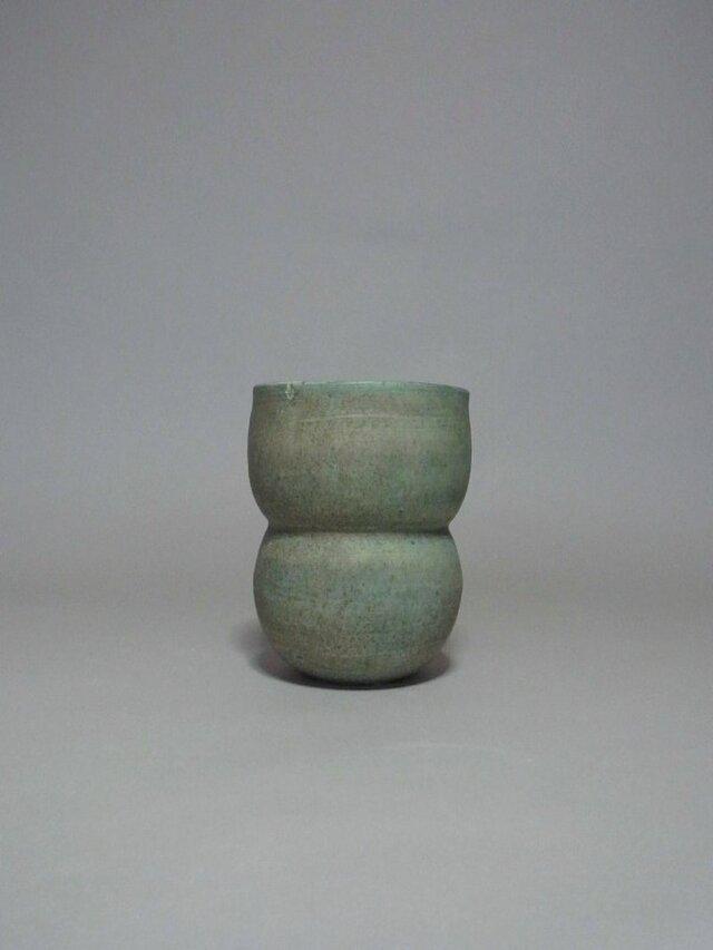 花器 グリーン (コロンコロン)の画像1枚目