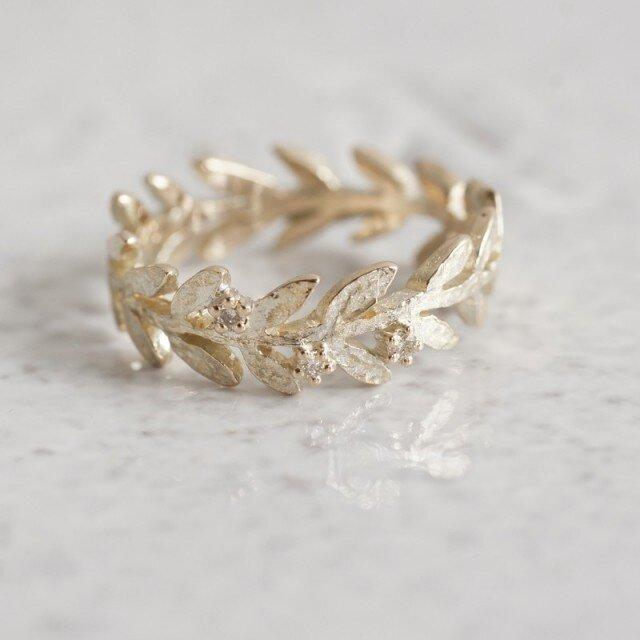 K10 Olive leaf ring{R002K10}の画像1枚目