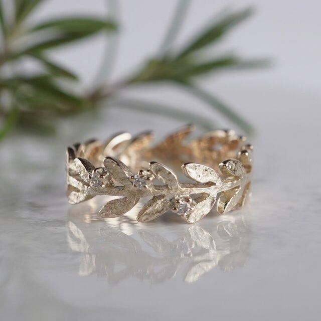 Olive leaf ring [R002K10]の画像1枚目