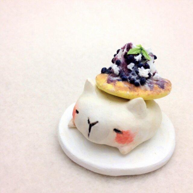 パンケーキアニマル添え ネコの画像1枚目