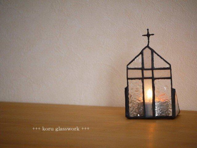 [再販] ステンドグラス キャンドルホルダー教会の画像1枚目