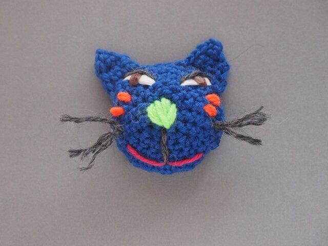 恋かも猫ブローチ blueの画像1枚目