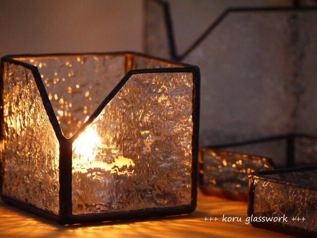 ステンドグラス box 波の画像1枚目