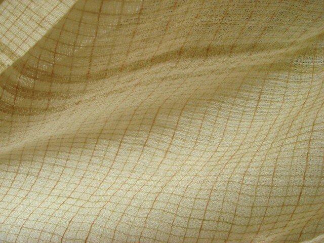 <手織り>ストール*格子の画像1枚目