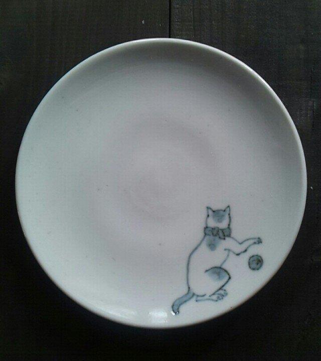 染付4寸猫皿 4の画像1枚目