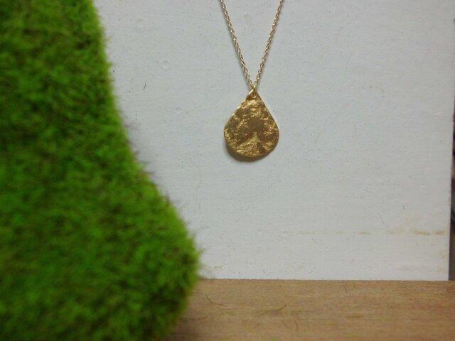 真鍮のゴールドドロップネックレスの画像1枚目