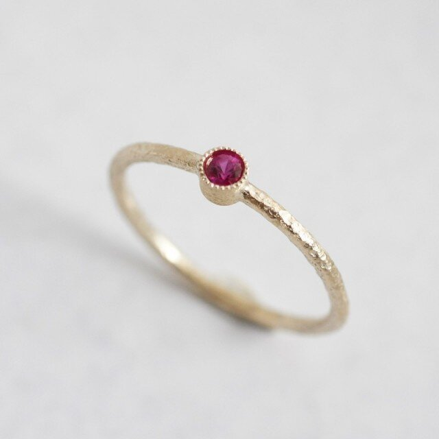 Ruby one stone ring {R050K10RB}の画像1枚目