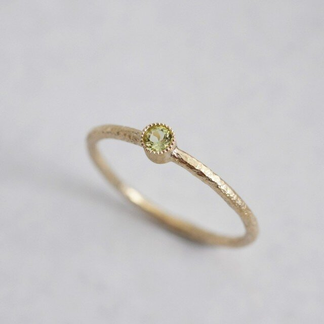 Peridot one stone ring {R050K10PD}の画像1枚目