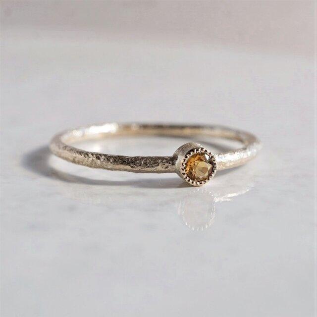 Citrine birthstone ring [R050K10CT]の画像1枚目