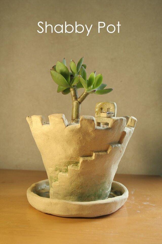 お城の植木鉢の画像1枚目