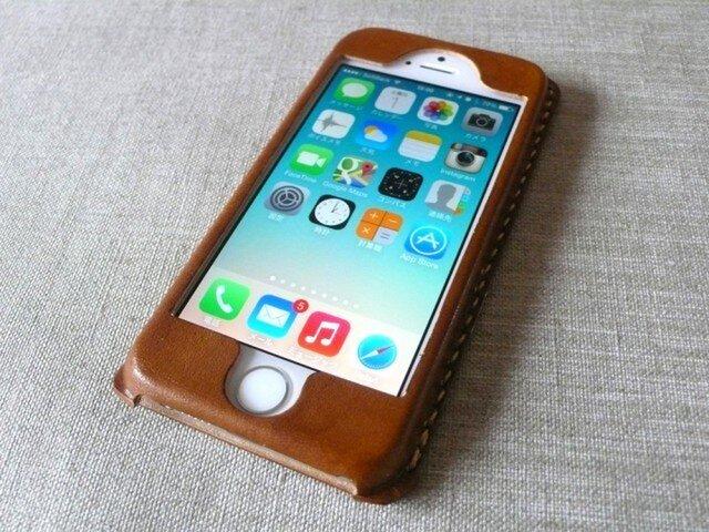 【受注制作】iPhoneケース《5/5S/SE専用》 ブラウンの画像1枚目