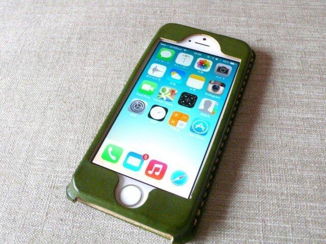 【受注制作】iPhoneケース《5/5S/SE専用》|モスグリーンの画像1枚目