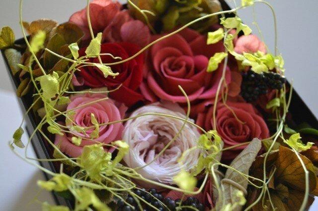 Flower Box (レッド*ブラック)の画像1枚目