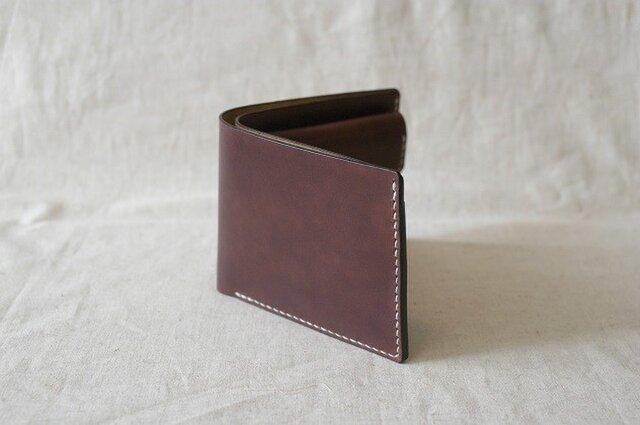 二つ折り財布 《 Dark Brown 》の画像1枚目