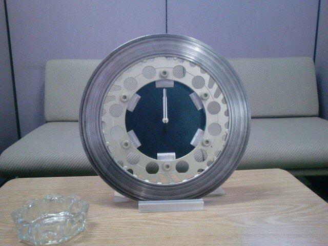 バイクディスクブレーキローター時計 の画像1枚目