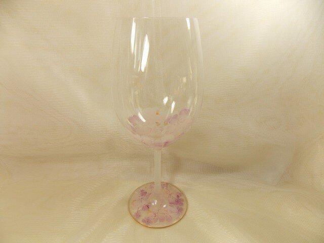 ボルド型たっぷりワイングラス(桜ふわりP)の画像1枚目