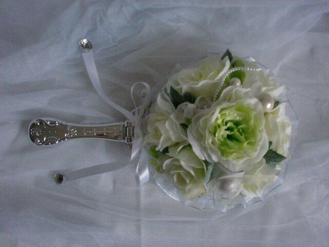 プリンセスミラー 挙式で使ったブーケを手鏡に加工の画像1枚目