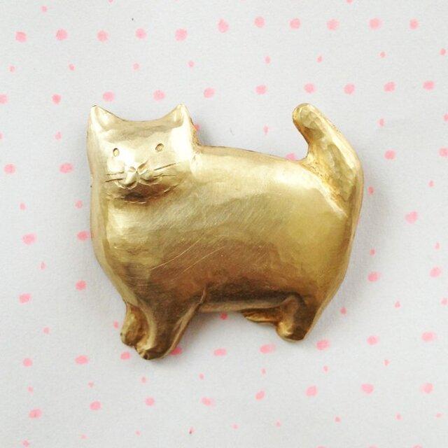 猫のブローチの画像1枚目